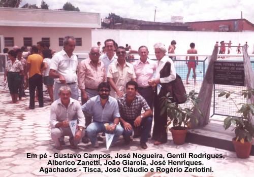 Inauguração do Parque Aquático do Social F. Clube