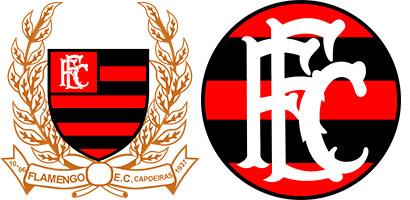 Antigos escudos do Flamengo de Capoeiras
