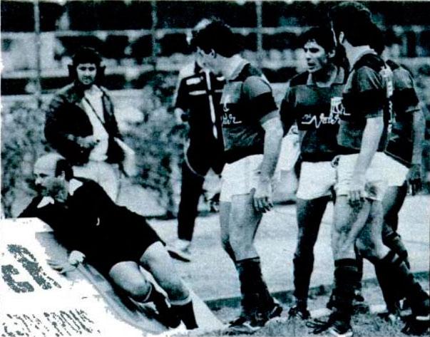 Clássico com o Figueirense no Scarpelli em 1986: confusão